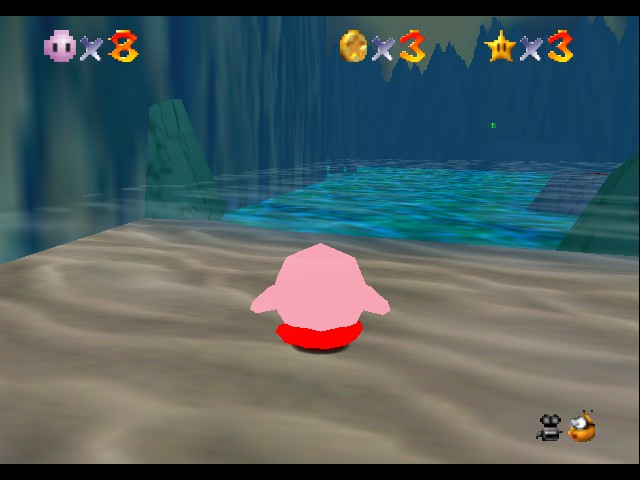 Super Mario 64 - Kirby Edition - I love this place - User Screenshot